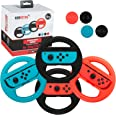 Premium Steering Wheels – Nintendo Switch Accessories Party Pack of 4 Perfect for Mario Kart 8 and All Things Racing (Comes i