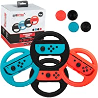 Premium Steering Wheels – Nintendo Switch Accessories Party Pack of 4 Perfect for Mario Kart 8 and All Things Racing…