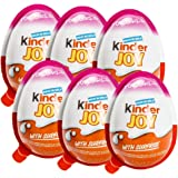 Chocolate Kinder Joy for Girls with Surprise Inside (6-Pack)