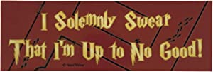 NaniWear Geek Potter Bumper Sticker Marauder I Solemnly Swear That I Am up to No Good