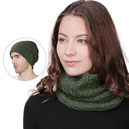 fa130594b88 Mens 36% Wool Knit Neck Gaiter Long Tube Warmer Scarf Winter Ski Snowboard  Gear Womens