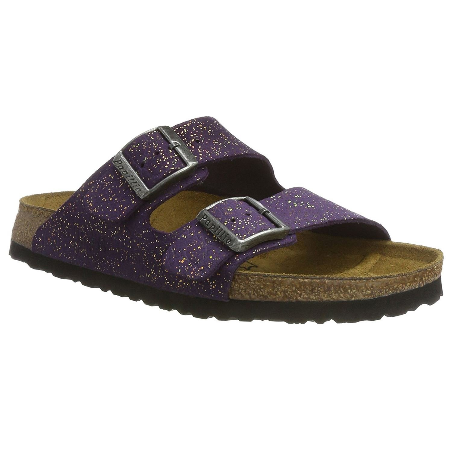 Papillio Womens by Birkenstock Arizona Grace Violet Suede Sandals 37 EU