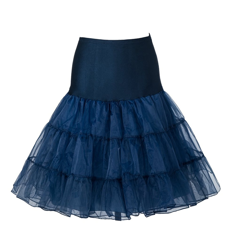 BOOLAVARD Women 50s Petticoat Skirts Tutu Crinoline Underskirt Boolevard Cosmetics Ltd