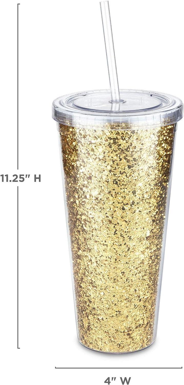 Blush 4840 Glam Double Walled Glitter Tumbler Gold
