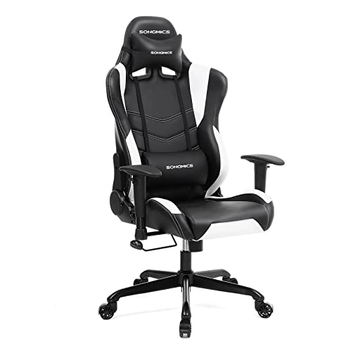 Schreibtischstuhl schwarz weiß  Amazon.de: Songmics Gaming Stuhl Bürostuhl Schreibtischstuhl ...