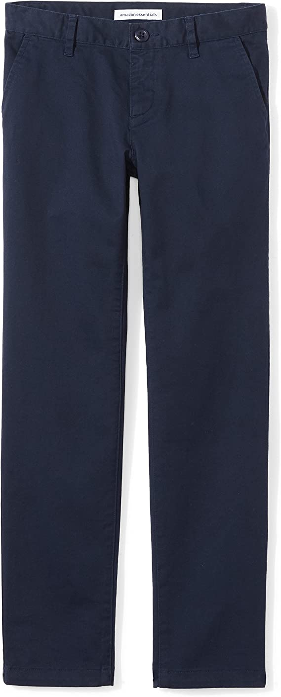 Amazon Essentials Girl's Flat Front Uniform Chino Pant