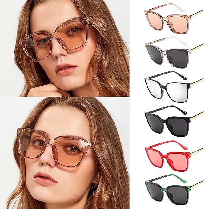Mymyguoe Gafas de Sol Mujer Grandes Dama Gafas de Sol ...