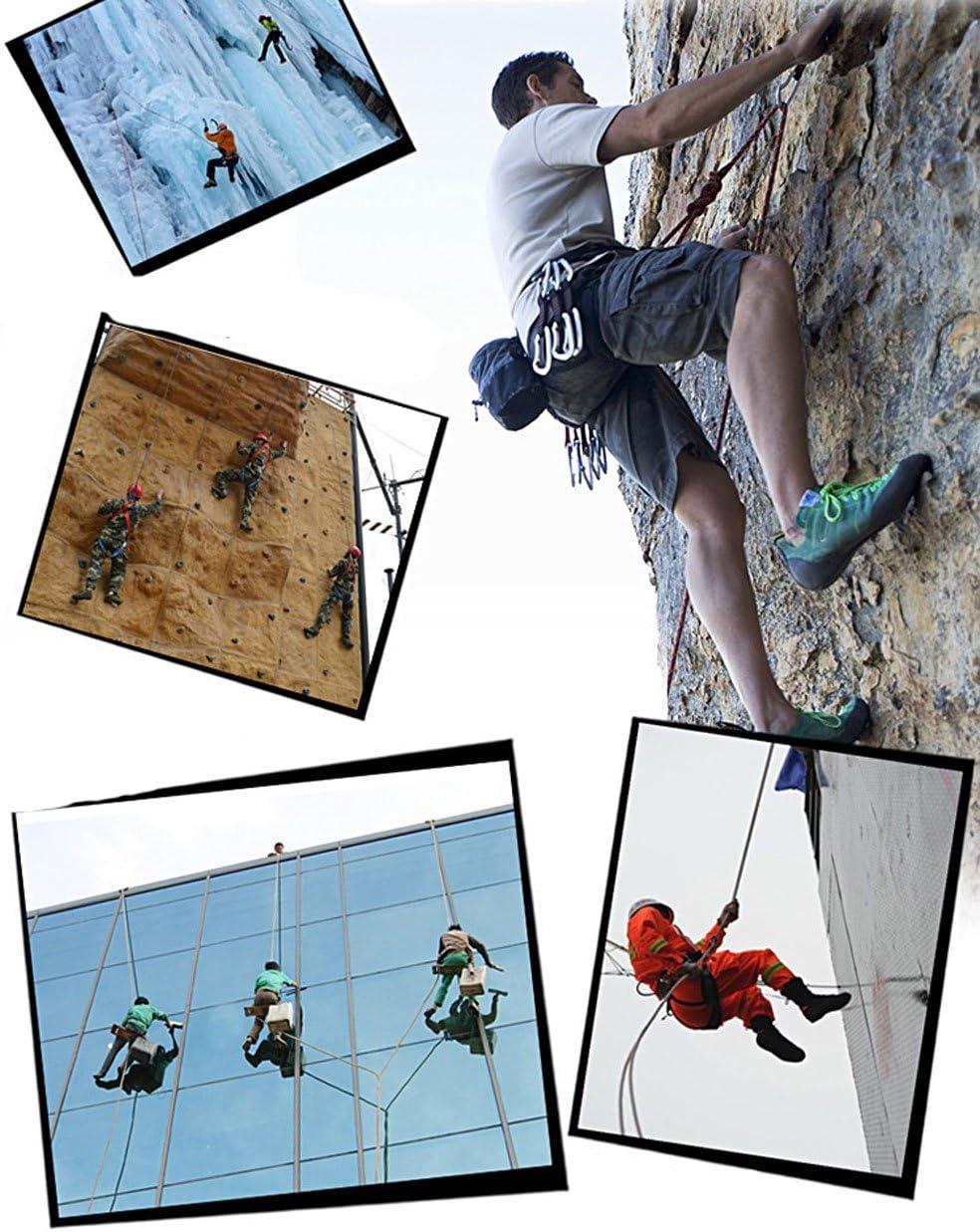 Wolike Cuerda de escalada profesional de 10,20 metros de longitud para rafeling, para excursiones al aire libre, accesorios de 12 mm de diámetro, 12 ...