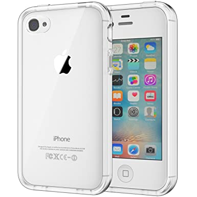 low priced 650a1 b5c9f JETech Case for Apple iPhone 4 and iPhone 4s, Shock-Absorption Bumper  Cover, HD Clear