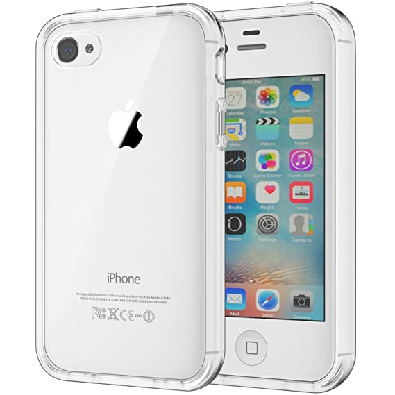cheap for discount 5edb4 e10b1 JETech Case for Apple iPhone 4 and iPhone 4s Shock-Absorption Bumper Cover  Anti-Scratch Clear Back (HD Clear)