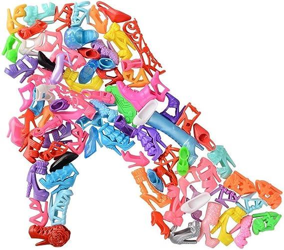 WENTS Accessoire Poup/ées Vetements Poupee Mini V/êtements Chaussures Cintres Fashionistas Accessoires Poup/ées pour Filles Jouets Anniversaire Cadeau Fille Cadeau de No/ël 86 Pi/èces