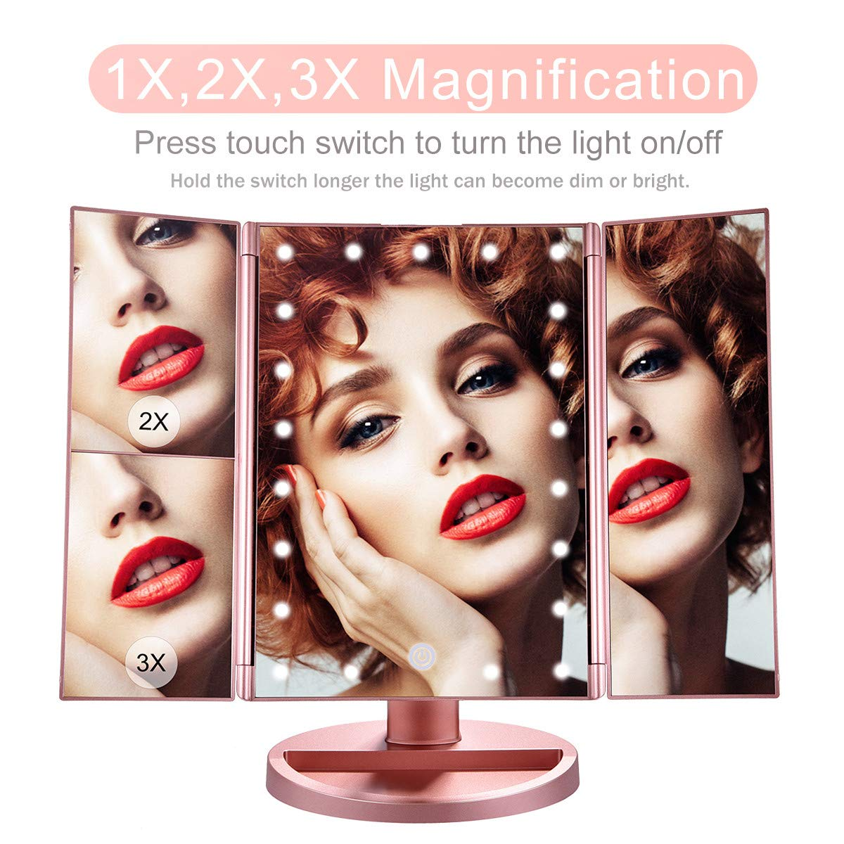 KOOLORBS Makeup 21 Led Makeup Mirror with Lights