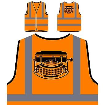 Máquina De Escribir Chaqueta de seguridad naranja personalizado de alta visibilidad s422vo