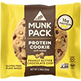 Munk Pack Protein Cookie with 16 Grams of Protein | Soft-Baked | Vegan | Gluten, Dairy and Soy Free | 12 Pack | 2.96oz…