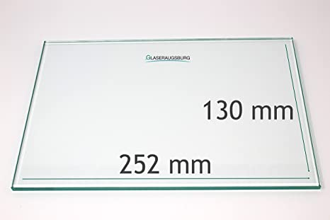 Glasplatte//Glasregal 800 mm x 370 mm alle Ma/ße lieferbar Klarglas 4 mm stark