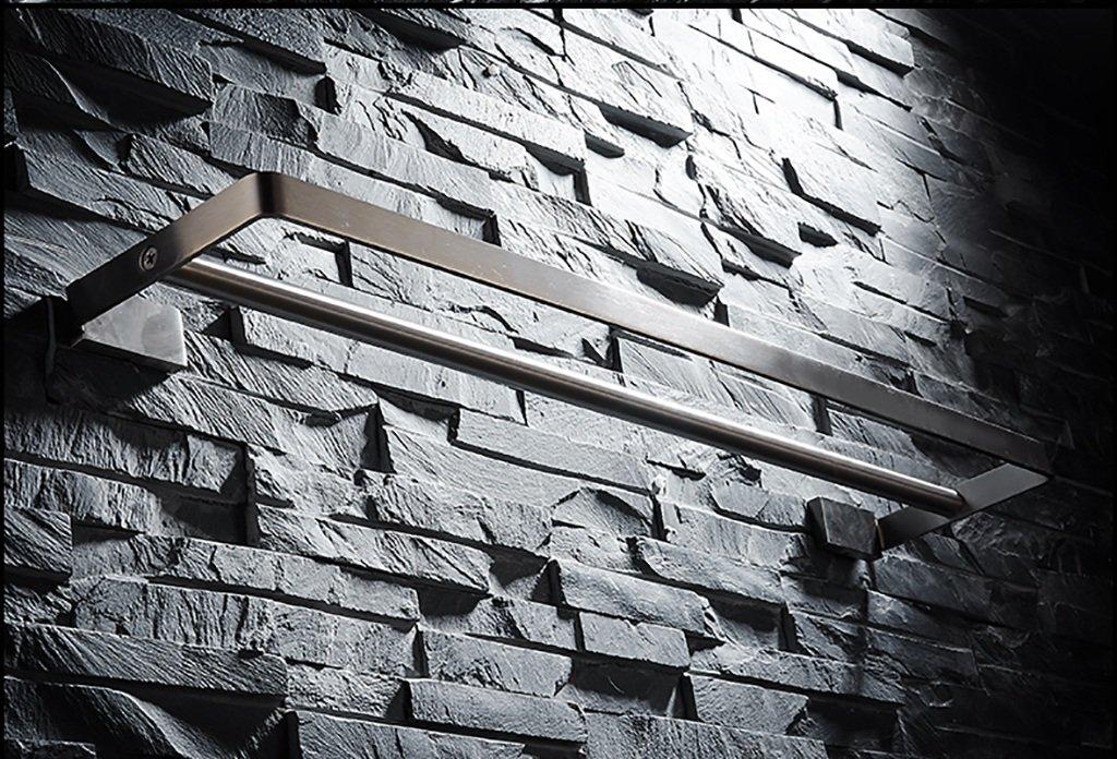 バスルームの棚 304ステンレススチールブラシタオルラックバスルームタオルラックバスルームタオルラック拡張ダブルタオルバー バスルームタオル収納ラック (サイズ さいず : 70センチメートル) B07DBWM94Q 70センチメートル 70センチメートル