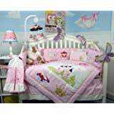 SOHO Royal Princess Nursery Bedding Set with Diaper Bag 14 pcs (Bumper & Comforter are Reversable)