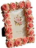 Giftgarden Bilderrahmen 10 x 15 cm Rot mit blühenden Rosen Fotorahmen Hochzeit Blumen Deko Photo Rahmen Garten Family Geburtstag Geschenke für Freunde