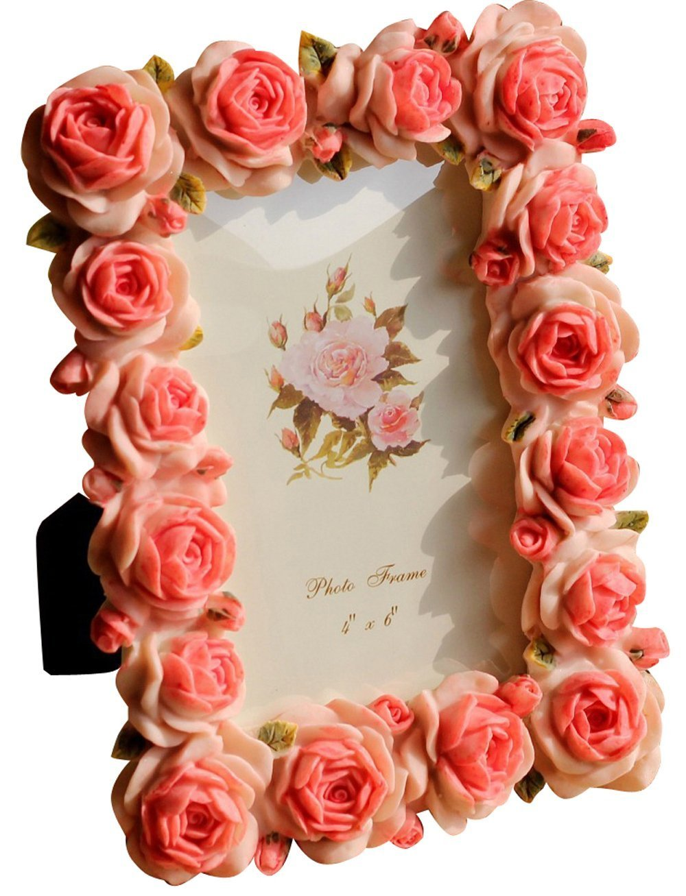Amazon.de: Giftgarden Bilderrahmen 10 x 15 cm Rot mit blühenden ...