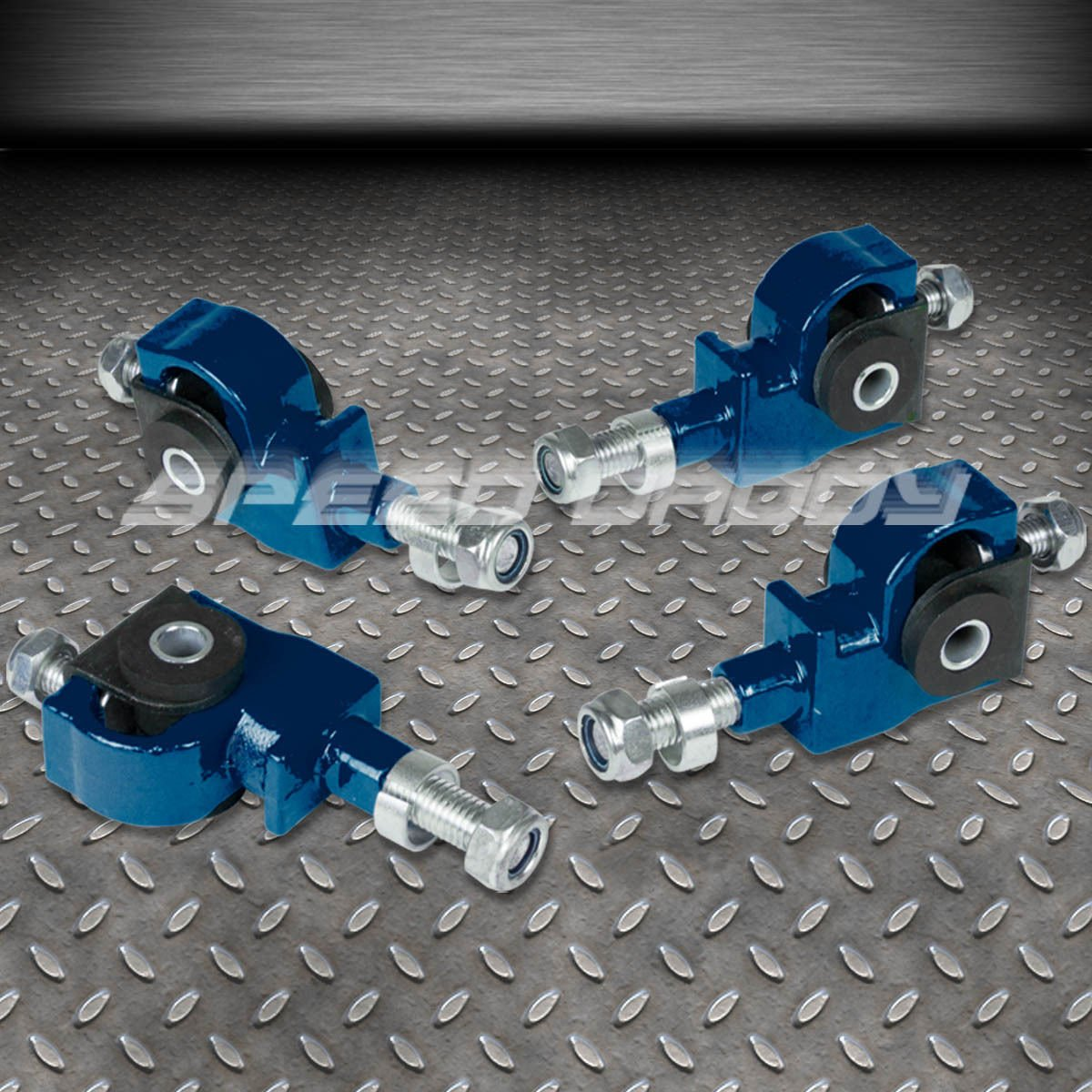 For Civic//Del Sol//Integra Front Camber Adjuster+Front Lower Control Bar EG EH DC Blue