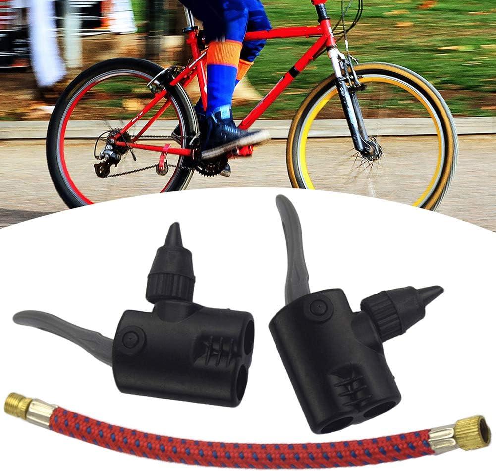 Pump Extension Hose Inflator Tube Bicycle Bike Tire Tyre Inflator Dual Head