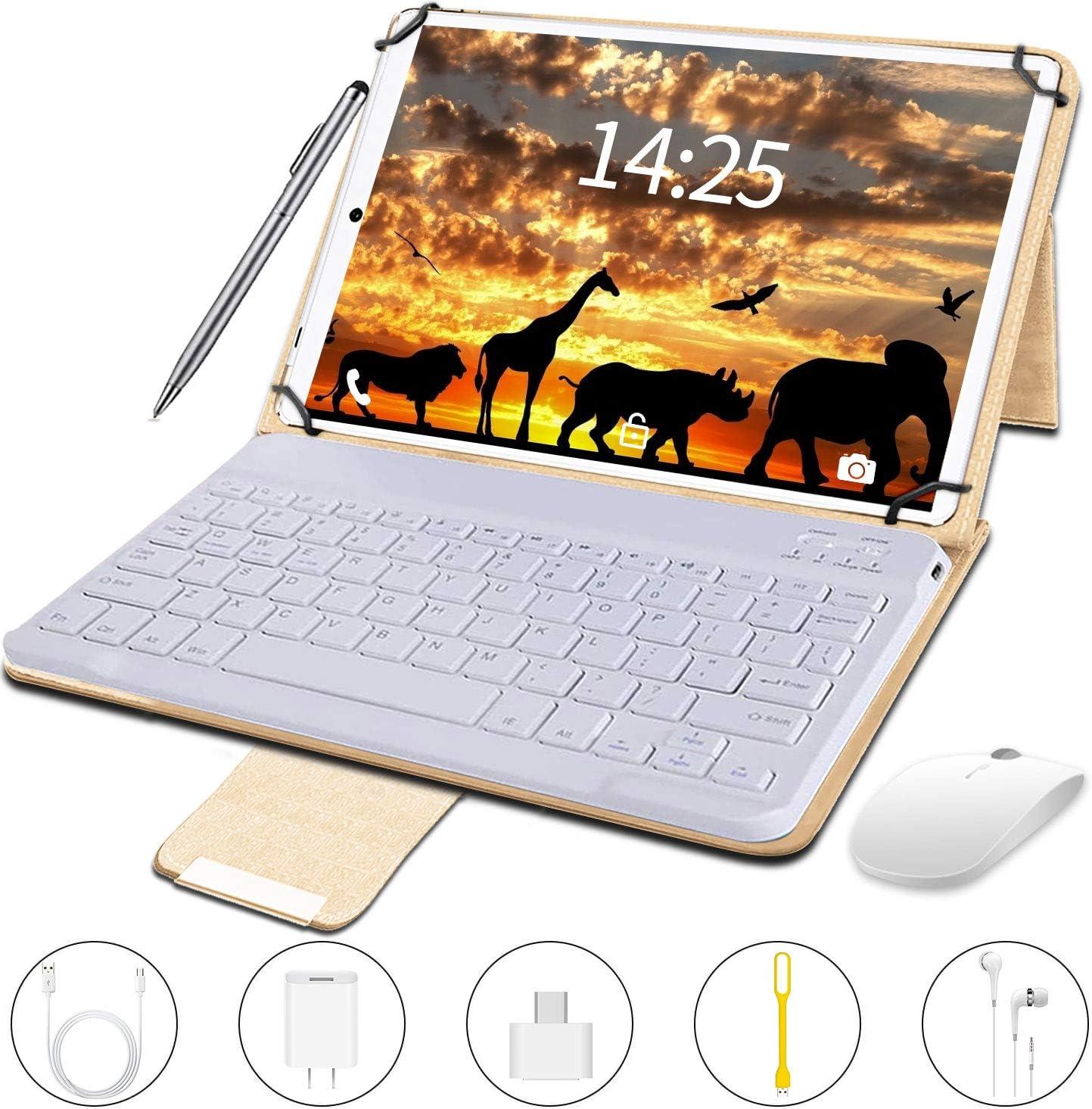 Tablet 10 Pulgadas barats 4G Full HD,4GB RAM+64GB ROM 128GB Escalables,Tableta 10