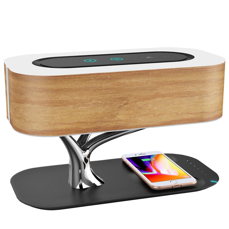 Ampulla Nachttischlampe mit Blautooth-Lautsprecher und Wireless-Ladegerät, Sleep-Modus dimmbar