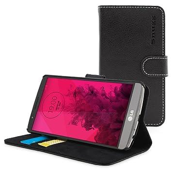 Snugg Funda G3, Carcasa Plegable para LG G3 [Ranuras para Tarjetas] Cubierta de Cuero con Billetera, Diseño Ejecutivo [Garantía de por Vida] -Negro, ...