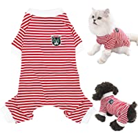ZEZKT Jersey Mascota Perro Gato Invierno c/álido su/éter Abrigo Traje Ropa su/éter de Cuello Alto para Perro Mascota Mono de Punto Estampado