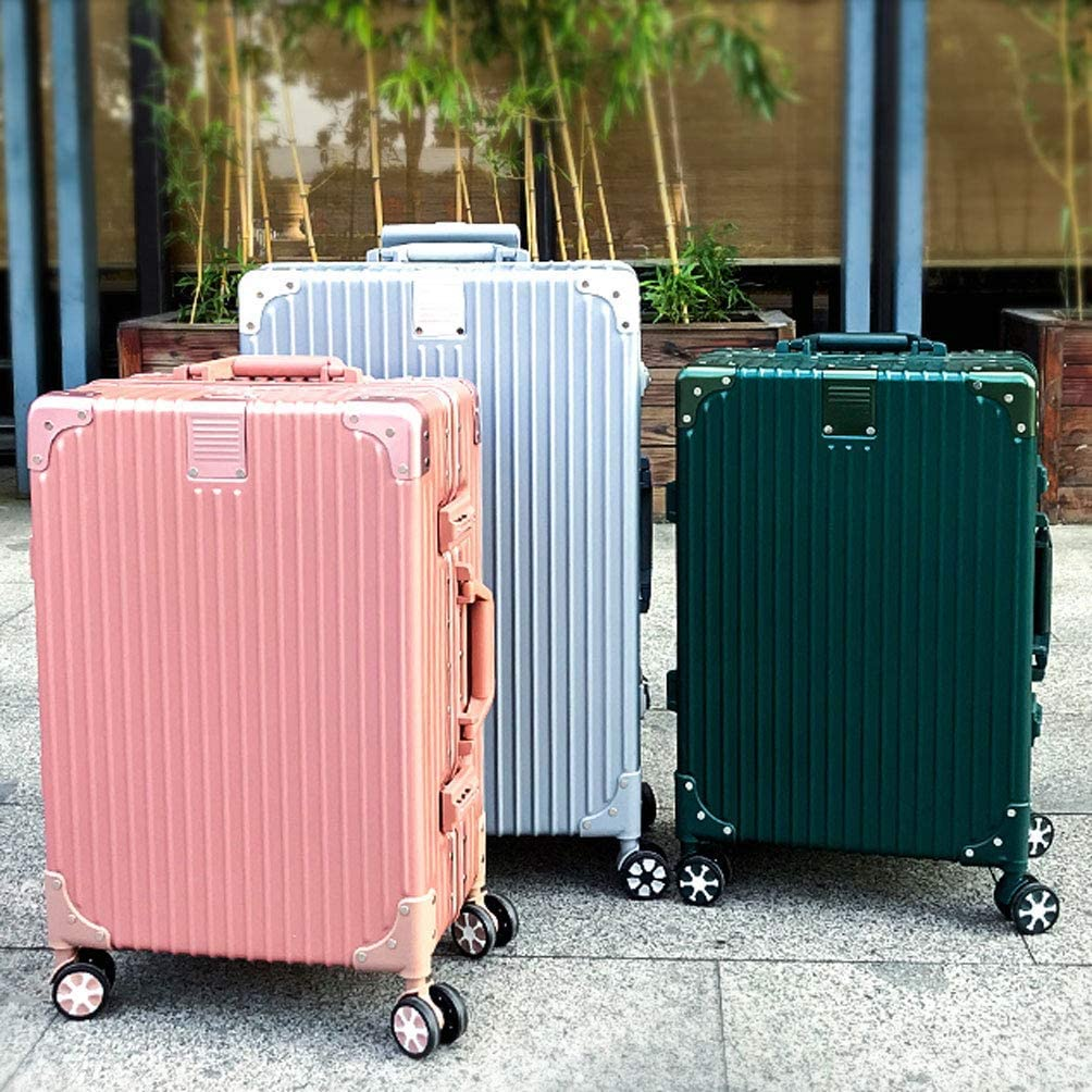 Color : Dark Green, Size : 20 inches503623CM HUANGDA Suitcase Trolley Case Universal Wheel Net Red Suitcase 20 Student Female 26 Password Box 24 Leather Box 22 Inch