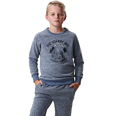 Leo&Lily Little Boys' Casual Printing Hoodie & Pants 2 Piece Set