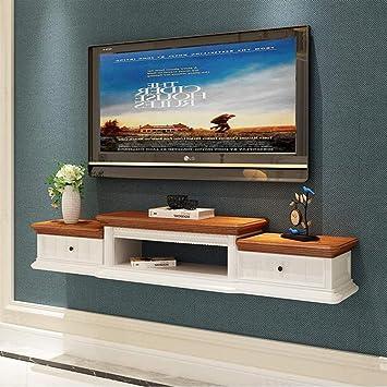 Mueble de TV de Pared Estante Flotante Estante de Pared Fondo de TV Decoración de Pared Estante Sala de Estar Dormitorio Estante Soporte de TV Consola Multimedia (Color : Blanco): Amazon.es: Electrónica