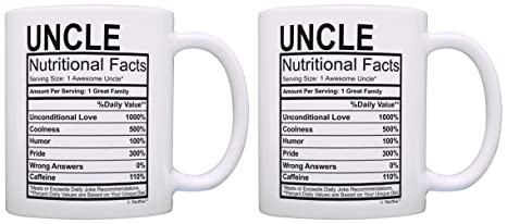 Amazon Birthday Gifts For Uncle Nutritional Facts Label Gift