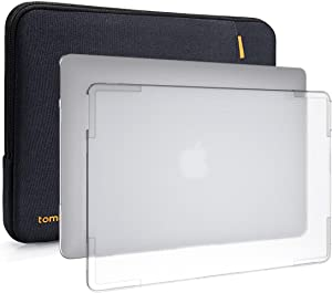 tomtoc Laptop Sleeve and Hard Shell Case for 13-inch MacBook Air with Retina Display A1932, 2 in 1 Protective Bag and Easy to Install and Remove Premium Case, Only for MacBook Air 13