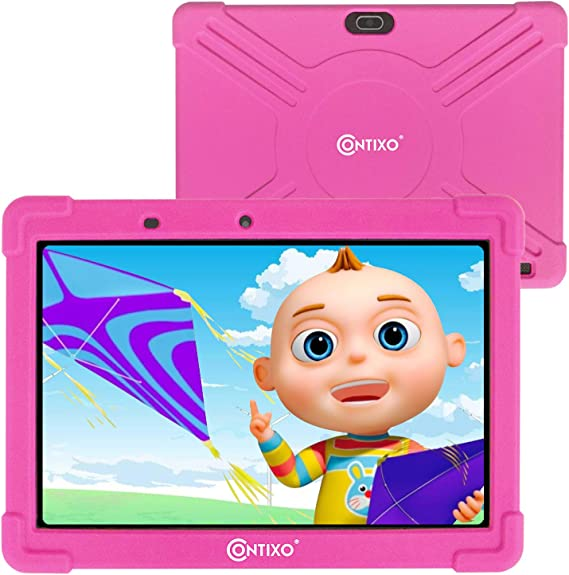 Contixo K101 10 Inch Kids Tablet - Girls Pink Tablet with Case - Android Tablet 16 GB IPS HD Display with 8MP Rear Camera - Learning Games Pre-Loaded - 2GB RAM - Kid-Proof Case (Pink)