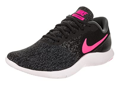 6e17761a510 Image Unavailable. Image not available for. Color  Nike Womens Flex Contact  Black Hyper Pink Anthracite Running Shoe ...