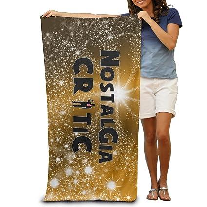 Nostalgia Critic negro diseño moderno diseño toalla de baño toallas de playa de objetivo de tacto