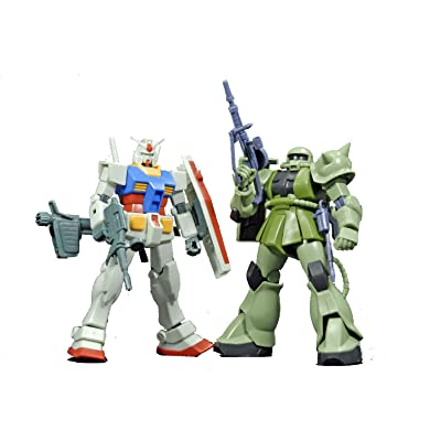 Bandai Hobby Gunpla Starter Set: Gundam Vs. Zaku II, Bandai HGUC Action Figure: Toys & Games [5Bkhe0502684]