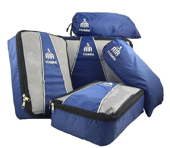 84fa5332822c YISAMA Packing Cubes,Luggage Organiser,Suitcase Organiser,Packing Bags 5  Pcs Set