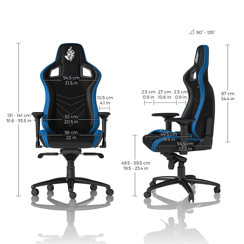 Noblechairs Epic H2 K edición Gaming Silla - Negro/Azul/Blanco: Amazon.es: Informática