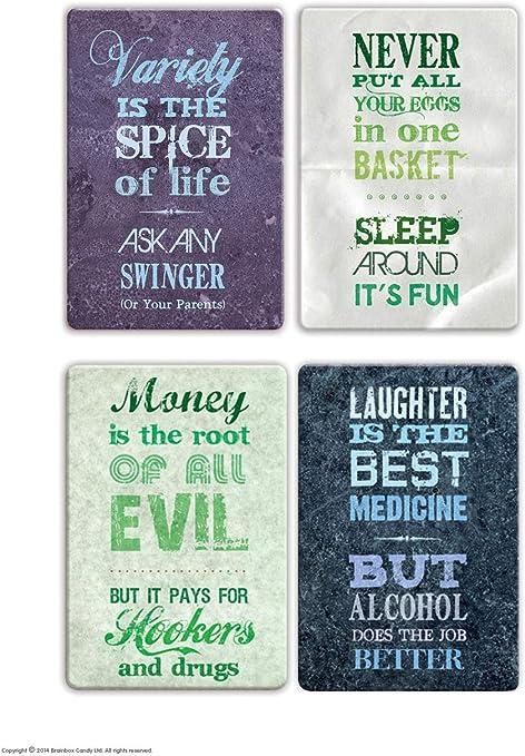 Brainbox Candy Funny Rude Express Yourself Pack de 4 imanes de ...