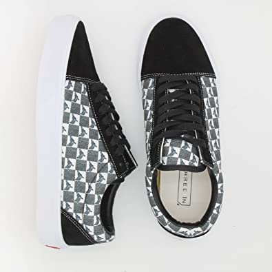 92ed96f4ec51d cozyshoeson Moo I'm A Goat Giraffe Mens Casual Sneaker Lace up Shoe White
