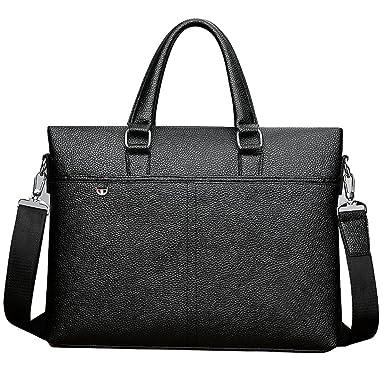 Frau PU-Reißverschluss-Art Und Weisehandtaschen Kurierbeutel-Schulterbeutelhandtasche,Black-OneSize GKKXUE