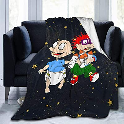 """Splendid Fee Rugrats TV Show-Blanket Soft Comfortable Thin Warm Flannel Printing Anti-Pilling 4 Seasons Universal Adult Children Quilt Tapestry 50""""x40"""": Home & Kitchen"""