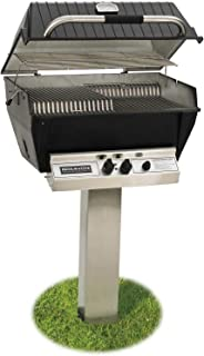 product image for Broilmaster P3-XF Premium Propane Gas Grill On Stainless Steel In-Ground Post