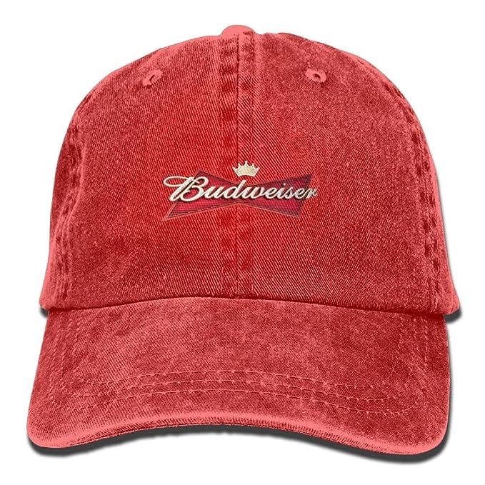 Amazon.com  Unisex Budweiser Beer Logo Baseball Cap Cowboy Hat Adjustable  Snapback Adult  Clothing 7be8748db66c
