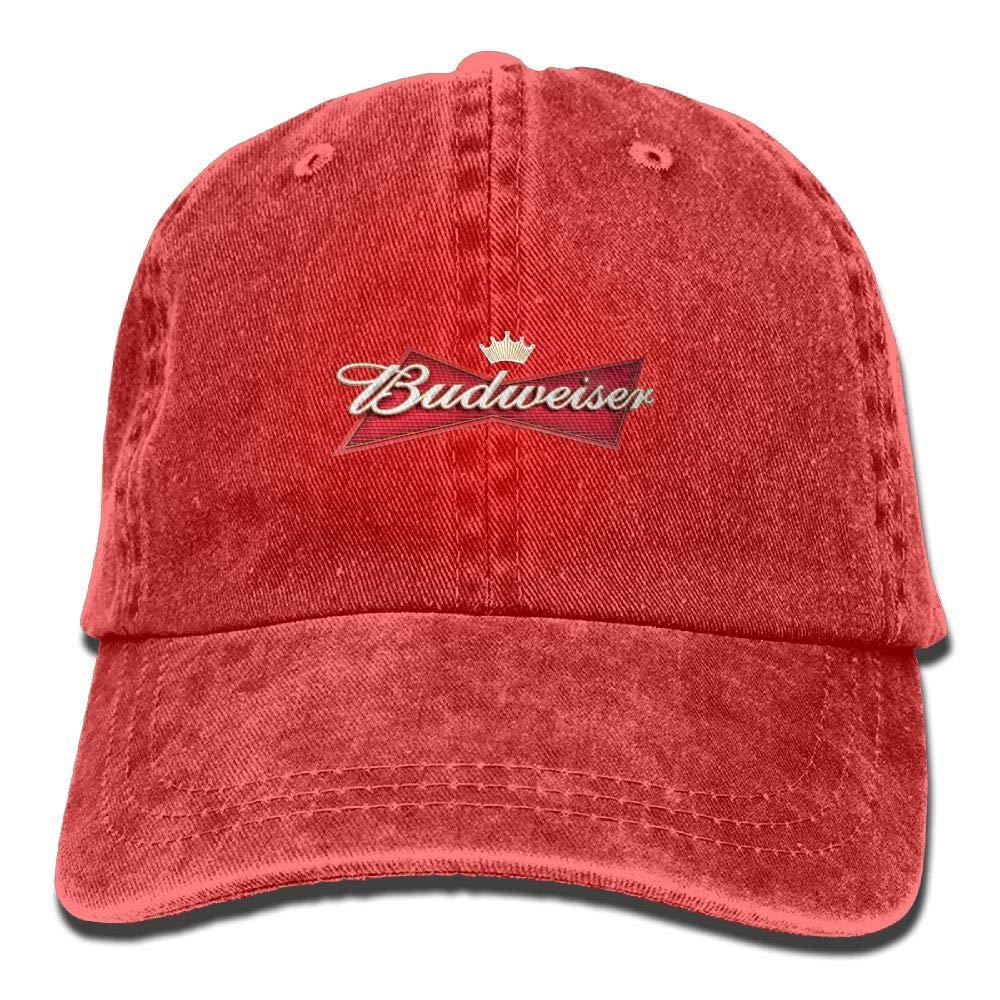 c49dbb82211 Amazon.com  Unisex Budweiser Beer Logo Baseball Cap Cowboy Hat Adjustable  Snapback Adult  Clothing