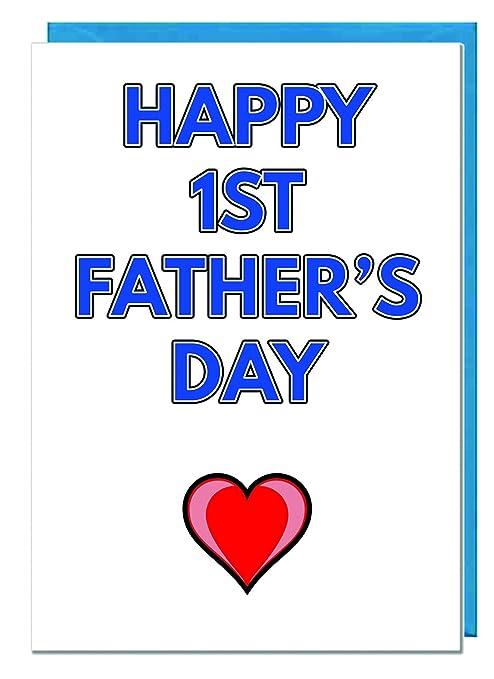Happy 1st el día del padre - PREMIUM Marfil tarjeta: Amazon ...
