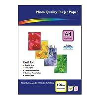 50feuilles de papier photo brillant A4120g/m² pour imprimantes à jet d'encre–Idéal pour imprimer vos photos à la maison