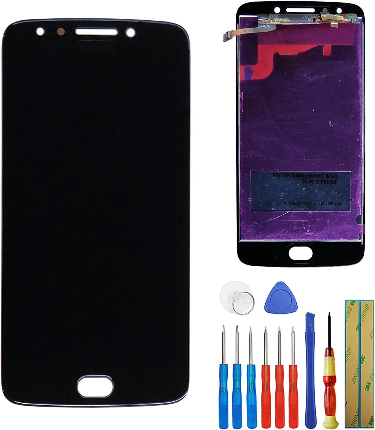 LCD Touch Screen Compatible with Motorola Moto E4 E 4 Gen XT1767 XT1768 Display Assembly Digitizer with Tools (Black)